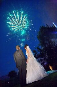ВЫСОТНЫЙ фейерверк на свадьбу