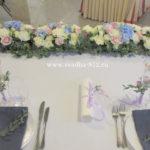 оформление президиума на свадьбу, декор свадьбы